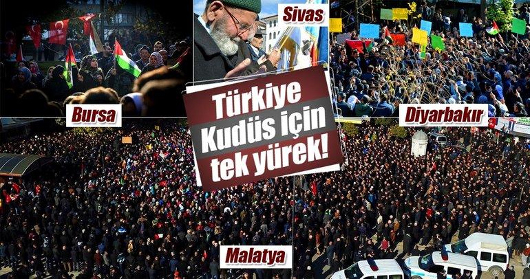 Türkiye Kudüs için tek yürek