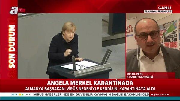 Almanya BaşbakanıAngela Merkel'incorona virüstest sonucu belli oldu | Video