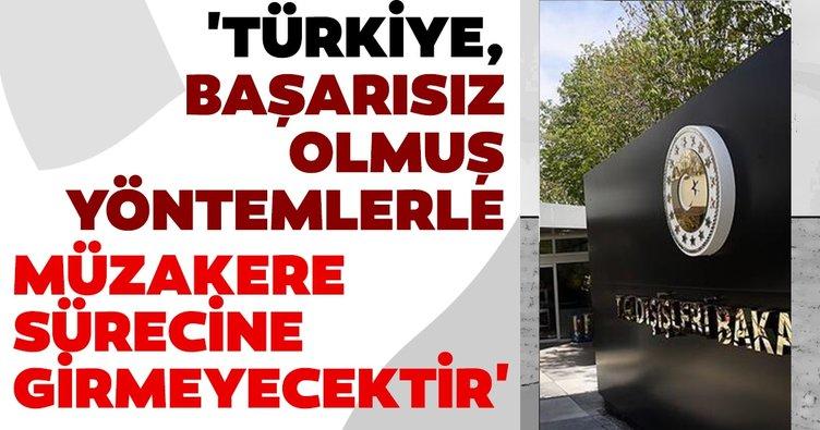 Dışişleri Bakanlığı'ndan Kıbrıs meselesi ile ilgili açıklama! 'Türkiye, başarısız olmuş yöntemlerle müzakere sürecine girmeyecektir'