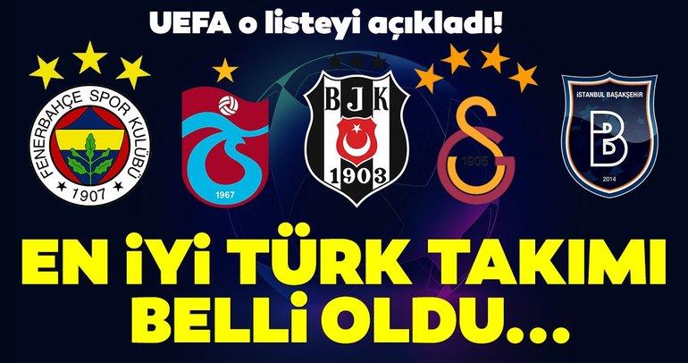UEFA Kulüp Sıralaması açıklandı! En başarılı Türk takımı...