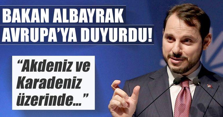 Bakan Albayrak: Hedef önce Akdeniz sonra Karadeniz!