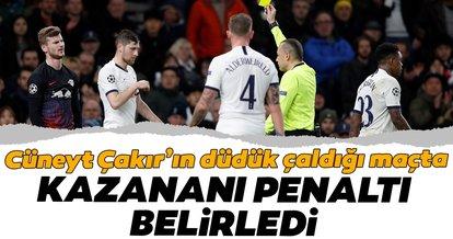 Cüneyt Çakır düdük çaldı, kazananı penaltı belirledi! Tottenham 0 - 1 RB Leipzig MAÇ SONUCU