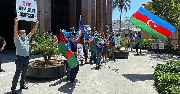 ABD'de Ermeniler, Azerbaycanlı göstericilere saldırdı