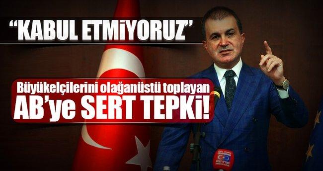 AB Bakanı Ömer Çelik'ten AB'ye sert tepki