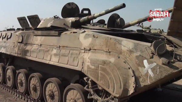 Azerbaycan Ermenistan güçlerinden ele geçirdiği son ganimetlerin görüntülerini paylaştı | Video