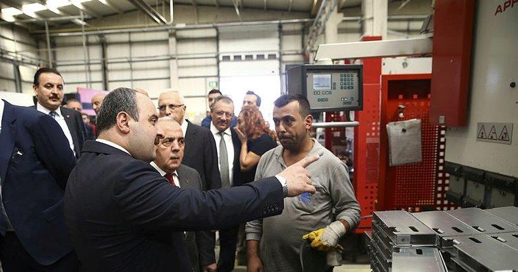 Bakan Varank'tan yerli üretim yapan fabrikalara ziyaret