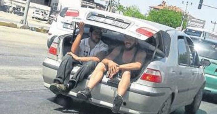 Yaz geldi trafikte gariplikler başladı
