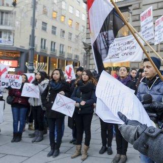 Avusturya'da Mursi için Mısır'ı protesto gösterileri yapıldı