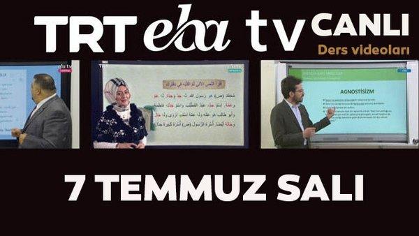 TRT EBA TV izle! (7 Temmuz Salı) Ortaokul, İlkokul, Lise dersleri 'Uzaktan Eğitim' canlı yayın   Video