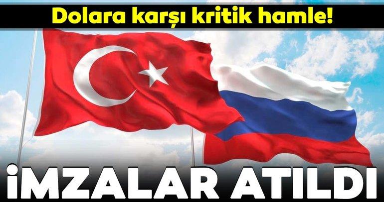 Rusya ve Türkiye karşılıklı sözleşmelerde ruble ve lira kullanımında anlaştı