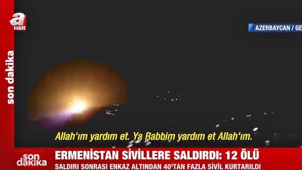 Son dakika haberi... Ermenistan'ın Azerbaycan'da sivilleri füzeyle vurduğu dehşet anları kamerada!