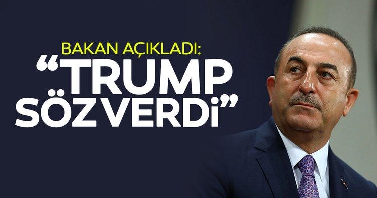 Dışişleri Bakanı Çavuşoğlu'ndan güvenli bölge açıklaması