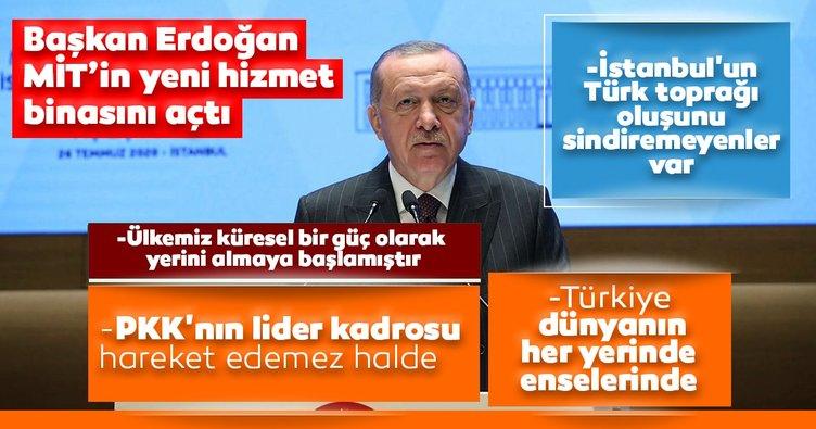 Son dakika: MİT'e İstanbul'da yeni karargah! Başkan Erdoğan'dan önemli açıklamalar