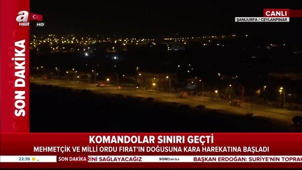 Barış Pınarı Harekatı'nda kara operasyonu başladı