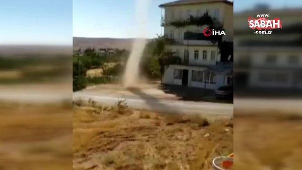 Elazığ'da meydana gelen hortum kamerada   Video