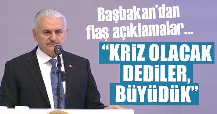 Yıldırım: Türkiye'de kriz olacak dediler, büyüdük