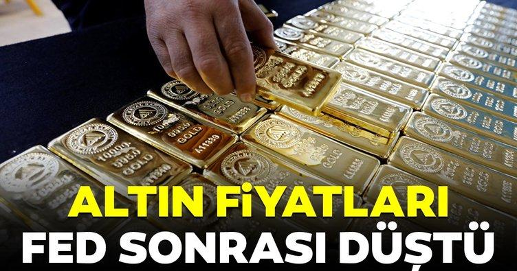 Altın fiyatları FED sonrası düşüşte