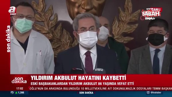 SON DAKİKA: Eski Başbakan Yıldırım Akbulut hayatını kaybetti! | Video