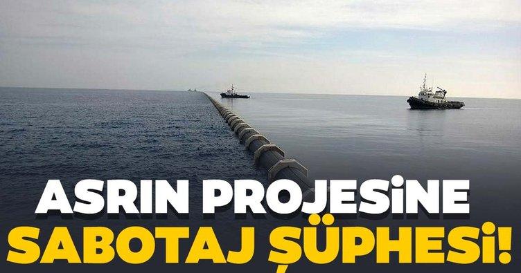 'Asrın projesi' Deniz Geçişi İsale Hattı'nda sabotaj şüphesi