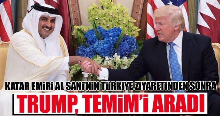 Şeyh Temim ile Trump arasında flaş görüşme