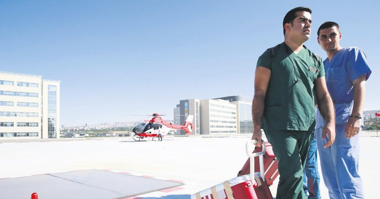 Şehir Hastanesi'ne ambulans helikopterle ilk organ transferi
