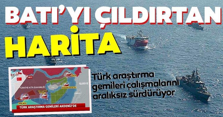 Akdeniz'de Batı'yı çıldırtan harita! Türk gemileri ilan edilen NAVTEX'lerin ardında aralıksız çalışmalarını sürdürüyor