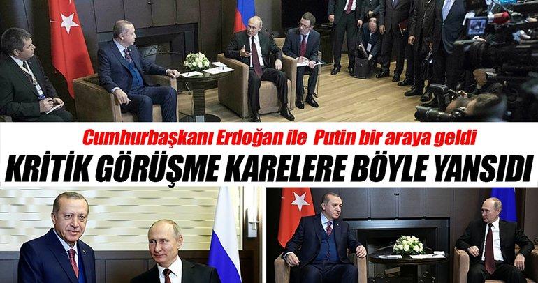 Cumhurbaşkanı Erdoğan - Putin görüşmesinden kareler
