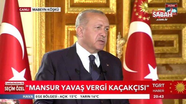 Cumhurbaşkanı Erdoğan'dan Mansur Yavaş'ın sahte senet skandalına ilişkin açıklama
