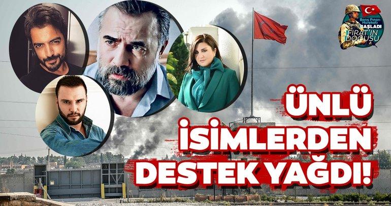Barış Pınarı Harekatı'nda teröristlere göz açtırılmıyor! Ünlü isimlerden Barış Pınarı Harekatı'na destek mesajları yağıyor...