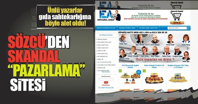 Sözcü'den skandal 'pazarlama' sitesi