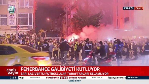 Fenerbahçe Trabzonspor galibiyetini böyle kutladı!