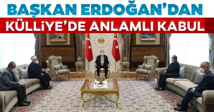 Son dakika: Başkan Erdoğan, Mescid-i Aksa İmam Hatibi Şeyh İkrime Sabri'yi kabul etti
