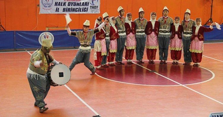 Kahramanmaraş'ta okullararası halk oyunları turnuvası
