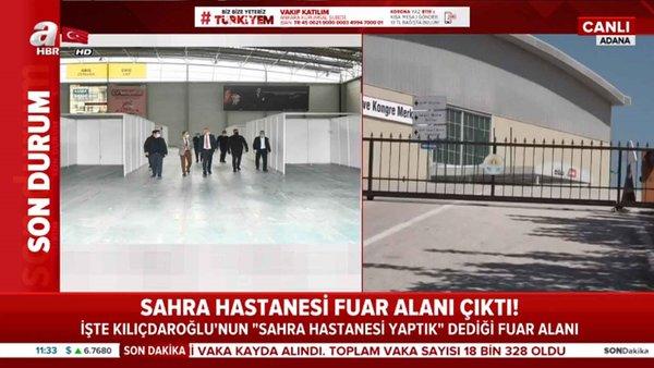 Sahra Hastanesi fuar alanı çıktı