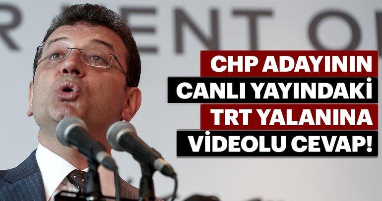 CHP adayının canlı yayındaki TRT yalanına videolu cevap!