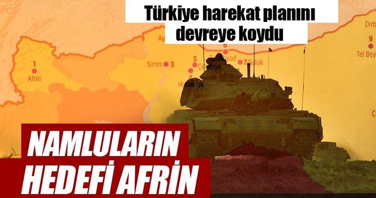 Namluların hedefi Afrin