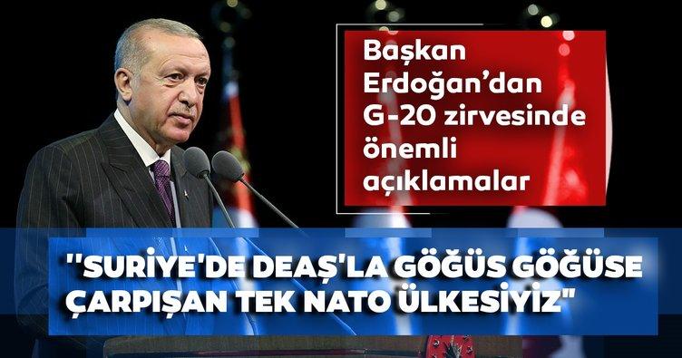Son dakika haberi: Başkan Erdoğan'dan G-20 zirvesinde önemli açıklamalar!