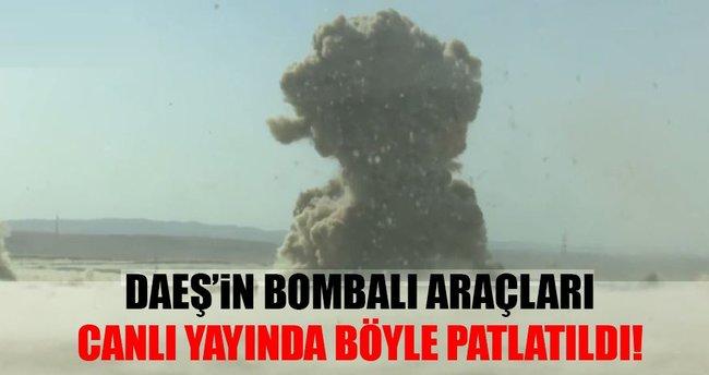 Peşmerge DEAŞ'ın bomba yüklü araçlarını patlattı