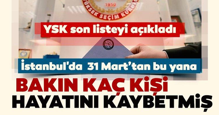 SON DAKİKA HABERİ: YSK İstanbul seçimi için seçmen listesine son şeklini verdi!