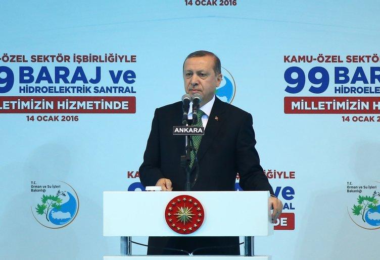 Cumhurbaşkanı Erdoğan 99 Baraj açılışında