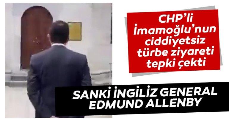 CHP'li İmamoğlu'nun ciddiyetsiz türbe ziyareti tepki çekti