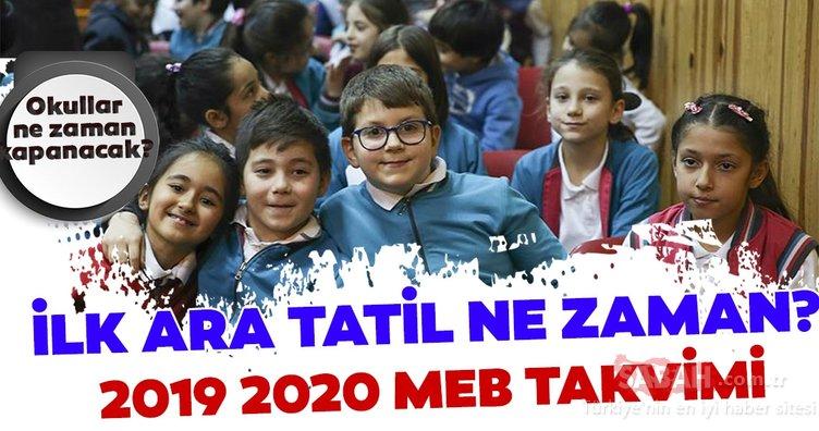 Okullarda ilk ara tatil ne zaman? Kasım tatili ne zaman? MEB 2019 2020 ara tatiller takvimi belli oldu