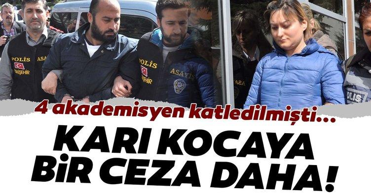 4 akademisyenin katili ve eşine 'silahlı tehdit'ten 1'er yıl 8'er ay hapis cezası