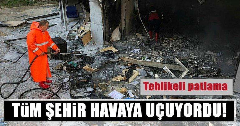 Zonguldak'ta doğal gaz şubesinde patlama: 2 yaralı