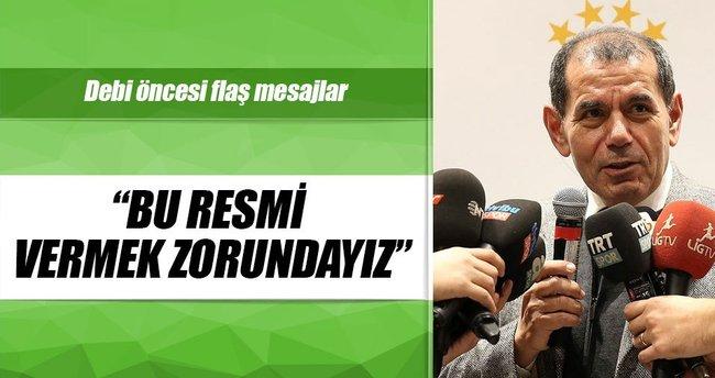 Dursun Özbek'ten derbi öncesi dostluk mesajları