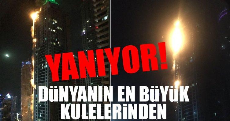 Dubai'deki Torch Kulesi yanıyor