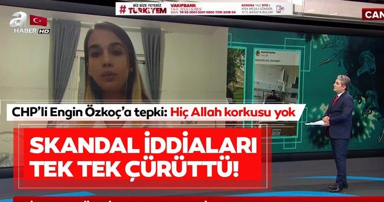 Leyla Gülüşken'den CHP'li Engin Özkoç'a sert tepki: Hiç Allah korkusu yok!