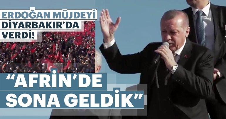 Cumhurbaşkanı Erdoğan müjdeyi verdi: Şuan itibariyle Afrin'de sona geldik