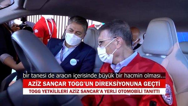 Aziz Sancar, Türkiye'nin Otomobili  TOGG'un direksiyonuna geçti
