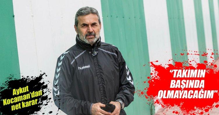 Aykut Kocaman takımdan ayrıldığını Konyaspor'a bildirdi